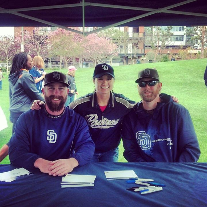 Autographs from the San Diego Padres