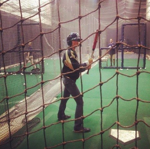 Batting Practice with the Padres