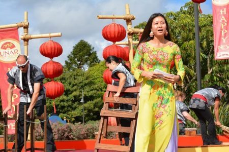 Marketing Melodie as Emcee for Sea World's Lunar New Year Celebration, February 2015