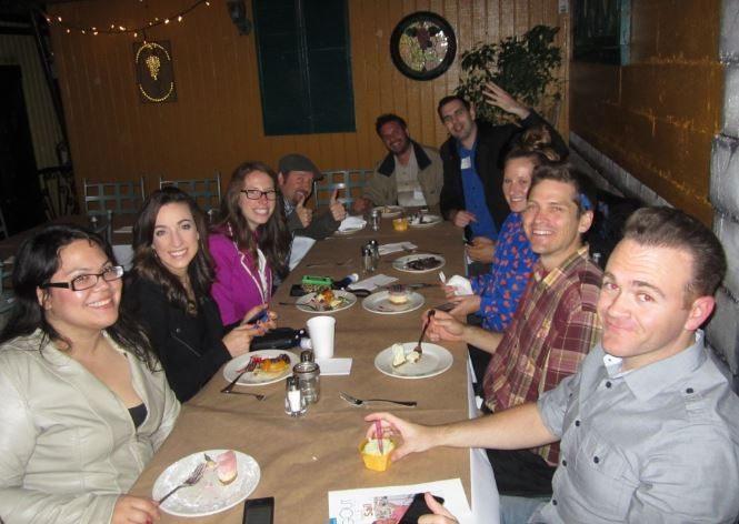 Enjoying Dessert at Foursquare Day San Diego