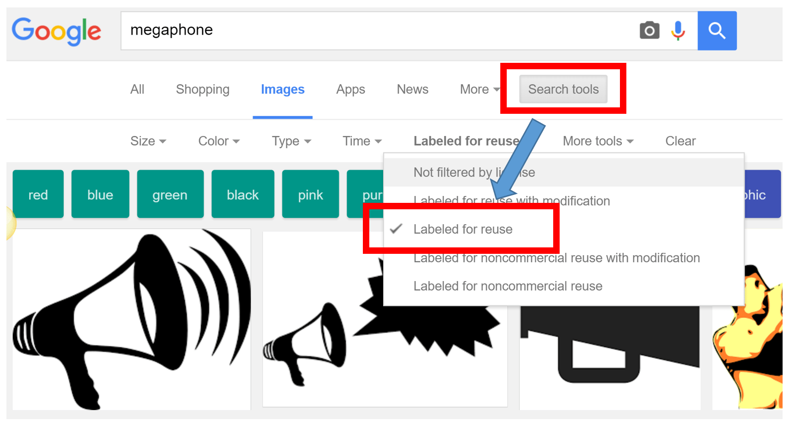 Google Image Search Tools by Marketing Melodie