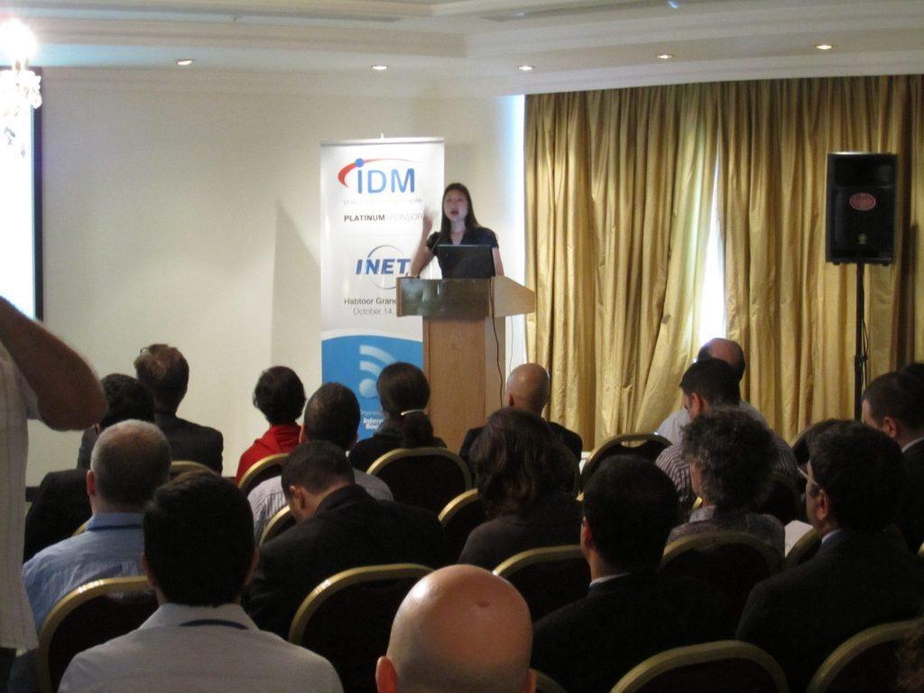 Marketing Melodie Speaks INET in Beirut