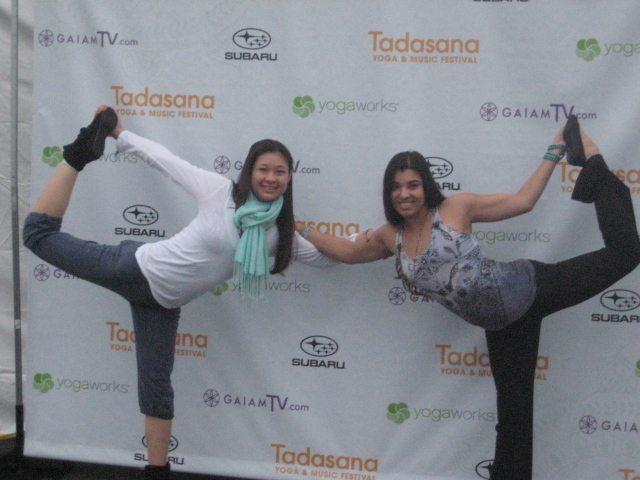 Having fun at Tadasana Festival with @VeronicaRaye