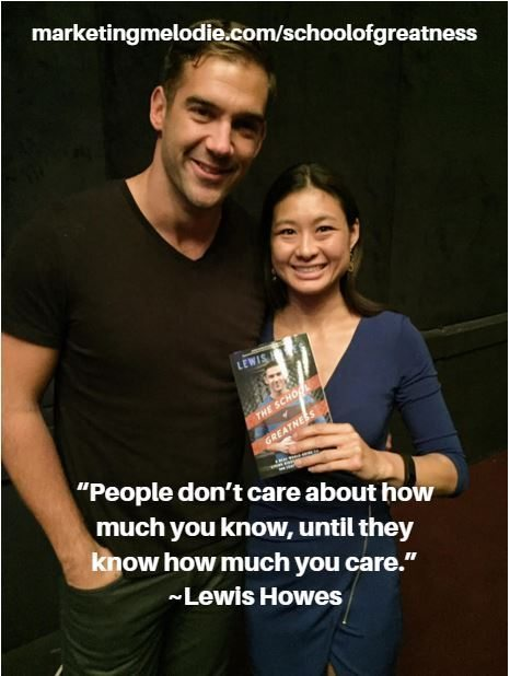 Lewis Howes with Marketing Melodie Tao