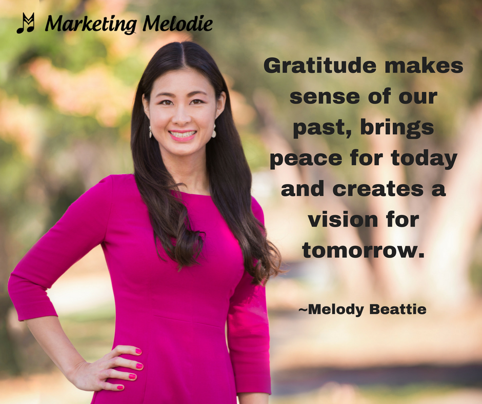 Marketing Melodie Thanksgiving Gratitude