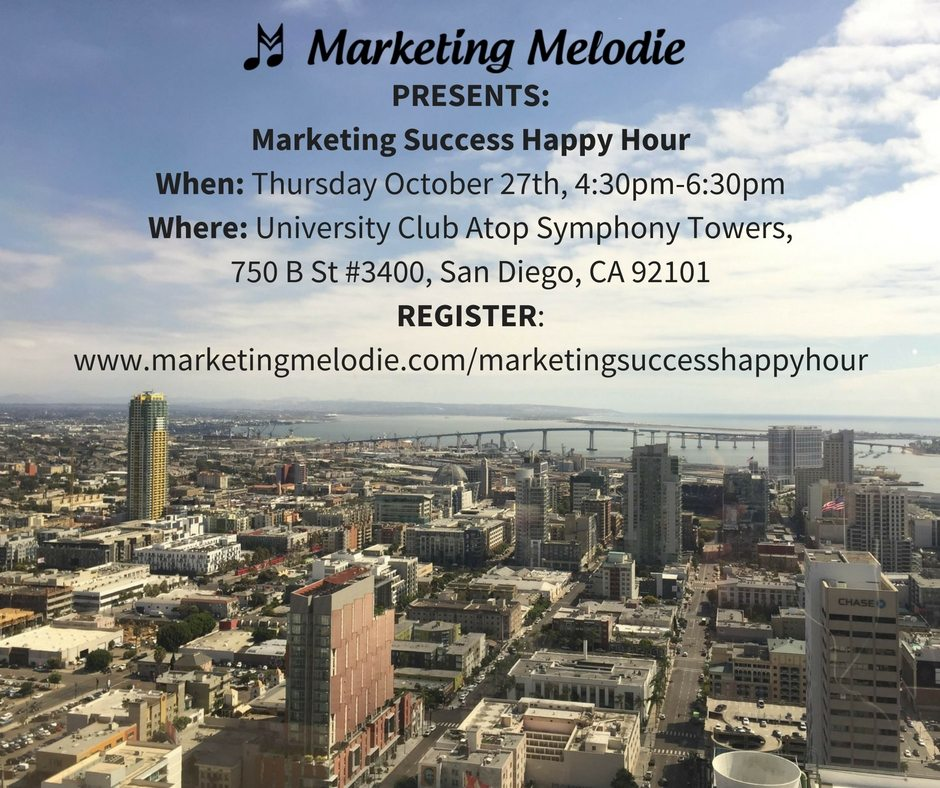 Marketing Success Happy Hour with Marketing Melodie