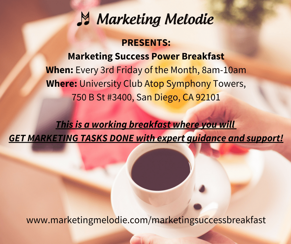 Marketing Success Power Breakfast with Marketing Melodie