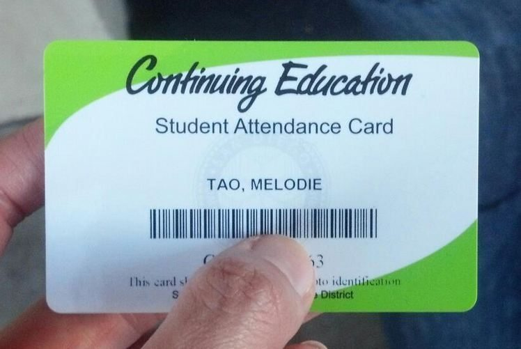 Photoshop Student ID card