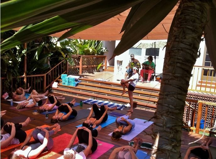 Riffs Yoga Yoga Yard Class with Live Music