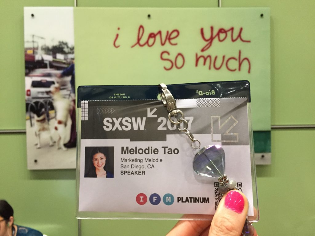 SXSW Marketing Melodie Badge
