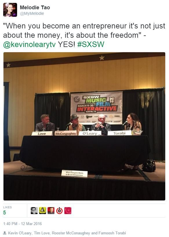 SXSW Marketing Melodie Entrepreneur Panel