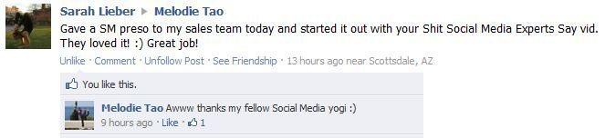 SSMES Facebook comment