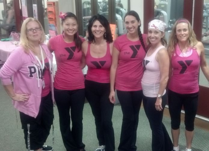 YMCA Workout in Pink